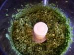 Pesto in food processor